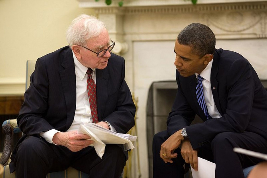 Warren Buffett i Prezydent Barack Obama